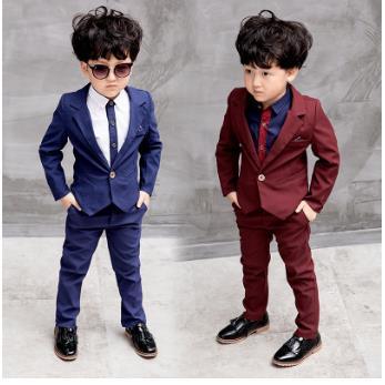 Blue/red Children Suit Big Boys Suits