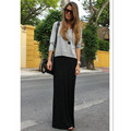 Fall Spring Solid Casual Modal Black Long Skirts  7XL Plus Size Maxi Office Skirt Fashion Womens Skirts