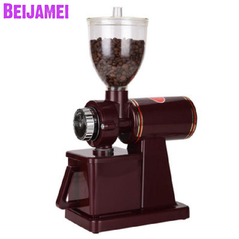BEIJAMEI New 110v 220v Coffee miller Milling electric household coffee grinding grinder machine thickness adjustableBEIJAMEI New 110v 220v Coffee miller Milling electric household coffee grinding grinder machine thickness adjustable