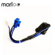 Marloo akcesoria motocyklowe 7 cal LED reflektor wiązki przewodów Adapter 4 Pins tanie tanio CN (pochodzenie) Poliuretanowa Emaliowane Drutu
