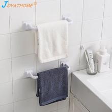 Joyathome 3M Self Adhesive Plastic Towel Bar No Wall Mount Towel Bar Bathroom Towel Rack Bathroom Towel Bar Kitchen Rag Bar bar