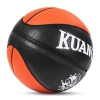 Kuangmi Size 5/6/7 Basketball Ball Wear Resistant Anti Slip PU Leather Basketball for Kids Children Men Women Indoor Outdoor