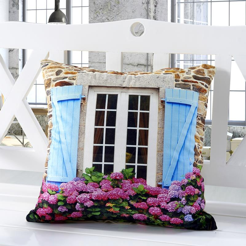 3D Design Flower Window Pillows 1