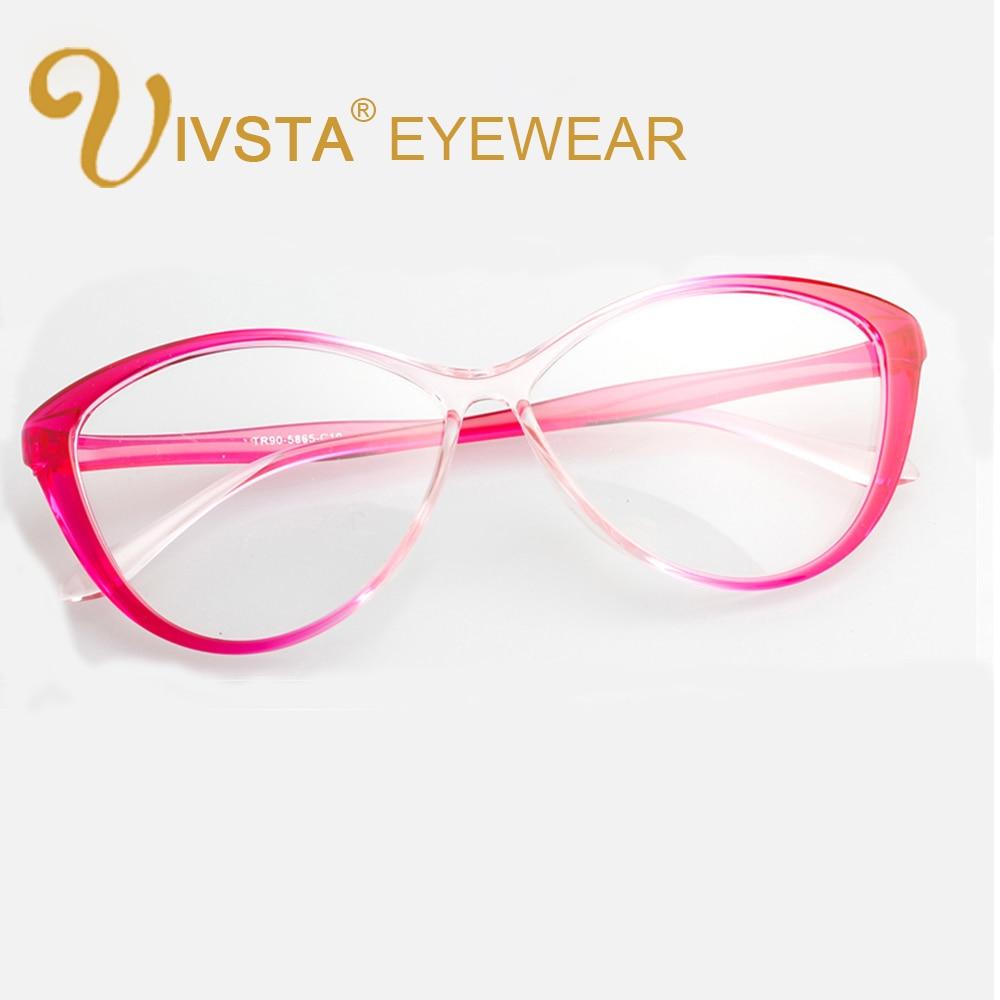 IVSTA 5865 Flexible TR90 Plastic Titanium Cat eye glasses women Optical Frame Cats Prescription Butterfly big eyeglasses vintage