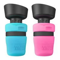 Dog Water Bottle Pets Outdoor Drinking Bottle BPA Free Food Grade Leak Proof Portable Dog Travel Water Bowl Dispenser