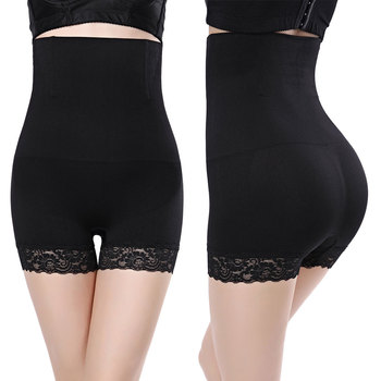 High Waist Shapewear Women Lace Slimming Boyshort Butt Lifter Waist Trainer Body Shaper Corset Women Solid color Control Panties Control Panties