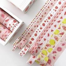 8 pcs/pack Cute Fruit family  Washi Tape set Kawaii Paper Adhesive Tape DIY Scrapbooking Sticker Label Masking