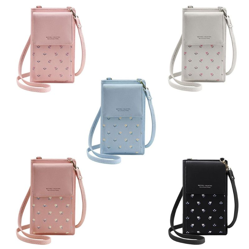 High Quality PU Leather Small Crossbody Shoulder Bag Cell Phone Purse Wallet with Credit Card Slots for Women shoulder bag