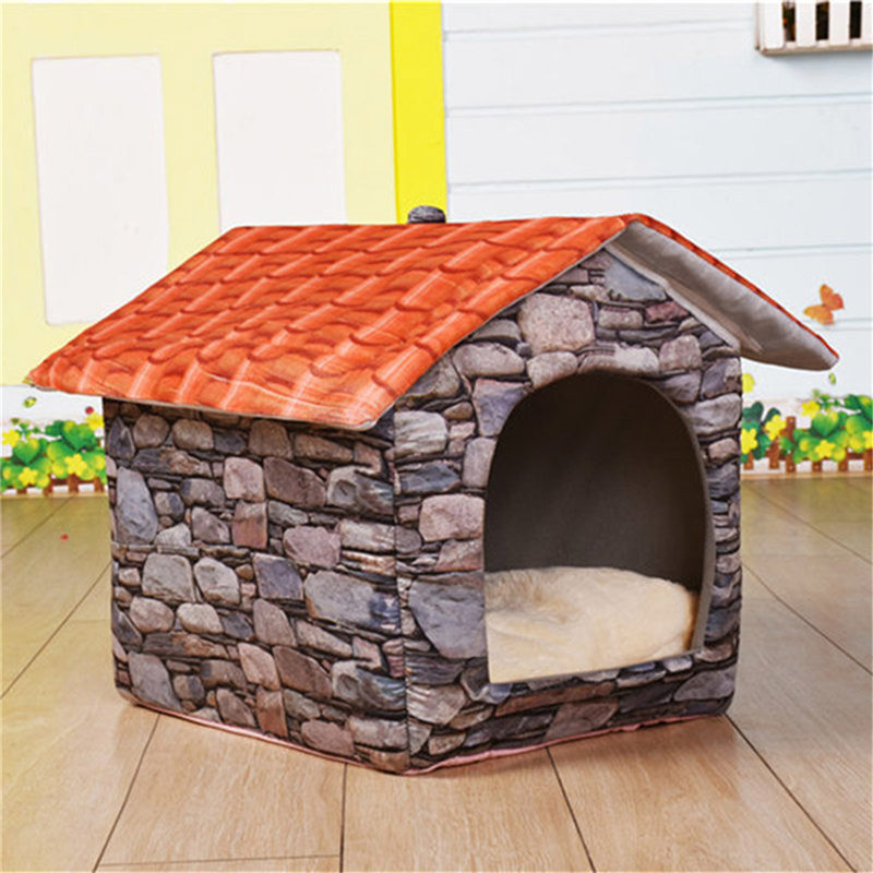 Pet Products Dog Doors, Houses & Furniture Dutiful Tailup Outdoor Indoor Pet Dog Bed House Outdoor House Toy Warm Sweet Place Beds/mats Super Soft Cloth All Season Dog Supplies Reasonable Price
