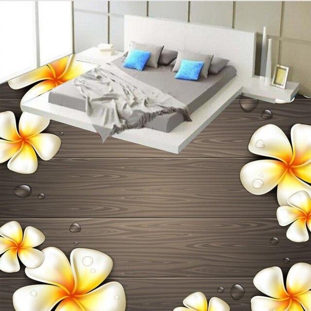Kostenloser Versand Holz Muster Ei Blume 3D Boden Malerei Küche Schlafzimmer  Kindergarten Dekorative Tragen Stock Tapete