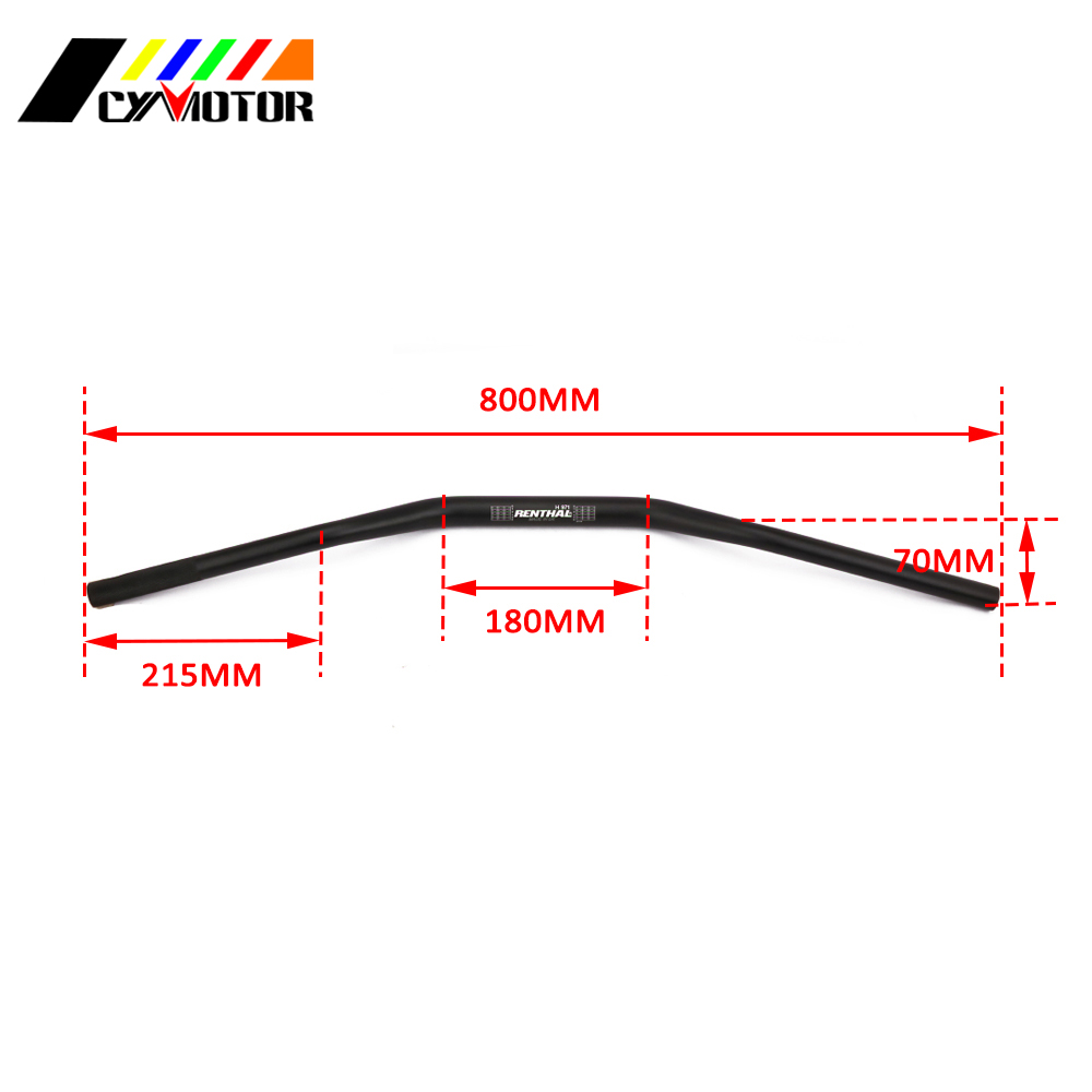 Motorcycle Renthal Handlebar 28MM 1 1 8 quot Fat Bar For KTM CRF YZF KLX RMZ EXC Motocross Pit Dirt ATV Bike in Handlebar from Automobiles amp Motorcycles