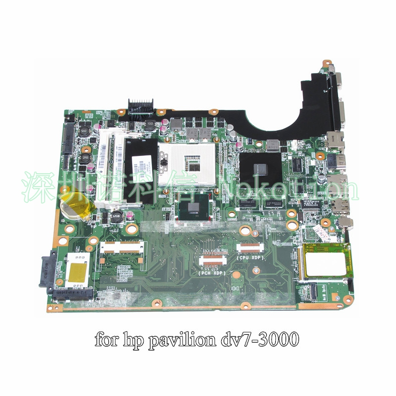 NOKOTION DA0UP6MB6F0 605698-001 For HP Pavilion DV7-3000 laptop motherboard PM55 DDR3 Suppy core i7 only GeForce GT320M nokotion sps v000198120 for toshiba satellite a500 a505 motherboard intel gm45 ddr2 6050a2323101 mb a01