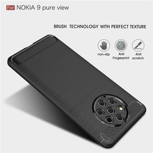 For Nokia 9 Pure View Case Brushed texture Soft TPU Silicone Back cover for Noki