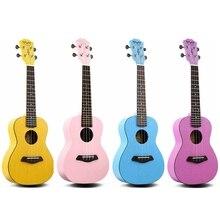23 Inch Concert Ukulele Mahogany 18 Fret Colorful Hawaii Four Strings Guitar Ukeleles 4 Colors Optional
