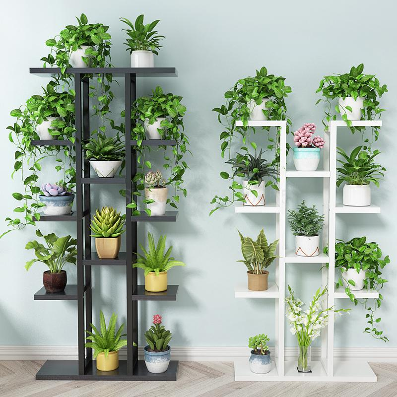 Flower Shelf Home Multi-storey Indoor Space Wrought Iron Flower Stand Multi-layer Living Room Balcony Flower Pot Shelf