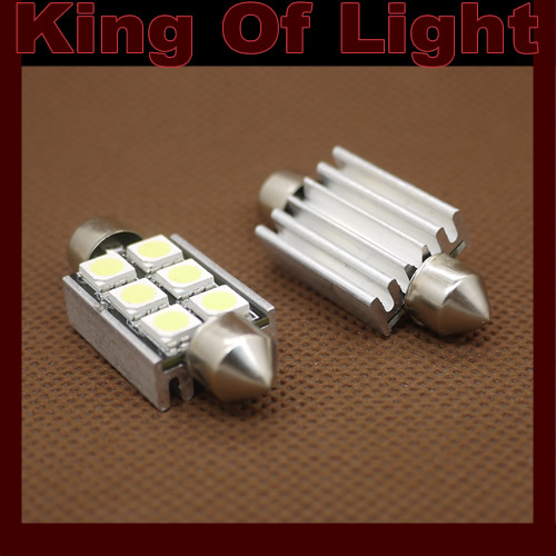 4x car led lighting Canbus 36mm 39mm 41mm C5W Festoon 6 led smd 5050 obc error free no error Free shipping