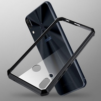 Funda híbrida a prueba de golpes para Asus ZenFone 5 2018 ZE620KL 5Z ZS620K, bolsa de Teléfono carcasa trasera transparente de cristal, 6,2 pulgadas