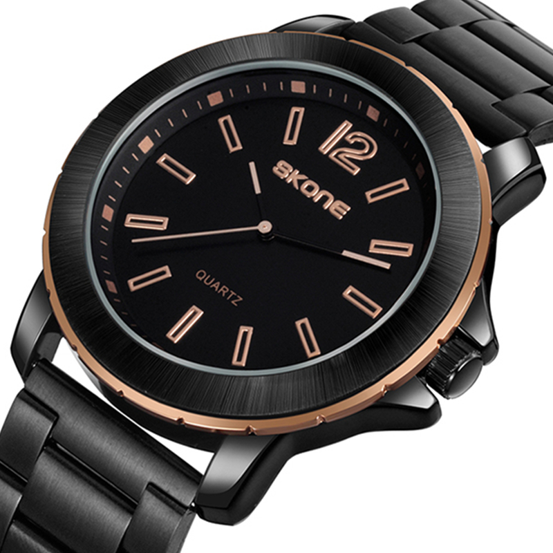 SKONE Men Watches Top Brand Luxury Male Military Wrist Watches Full Steel Men Sport Watch Waterproof Clock Man Relogio Masculino splendid brand new boys girls students time clock electronic digital lcd wrist sport watch