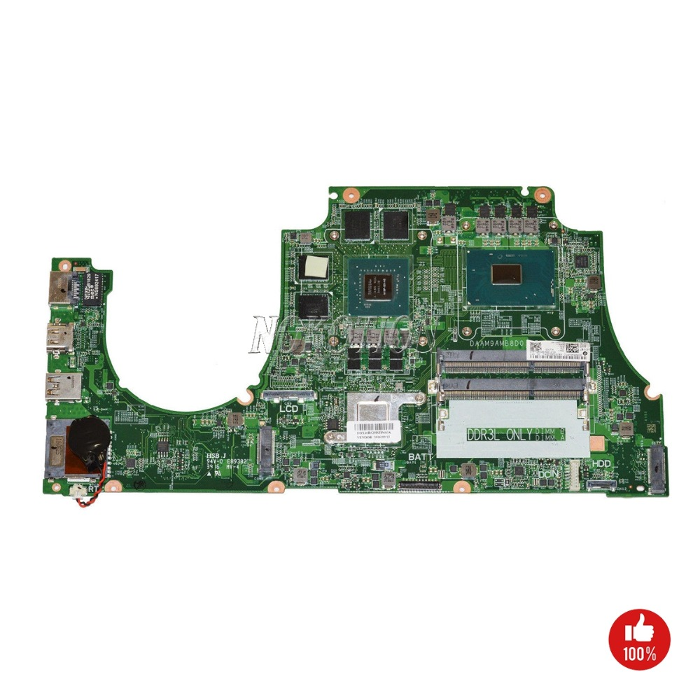 NOKOTION CN 0NXYWD 0NXYWD DAAM9AMB8D0 1P4N7 For dell Inspiron 15 7559 Motherboard Intel i5 6300HQ CPU