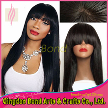 NEW Hand Tied High Quality Virgin Brazilian Straight Full Lace Wigs Glueless Silky Straight Full Lace Human Hair Wigs