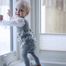 VTOM New Autumn Baby Rompers  Infant Jumpsuit Overall Sleeveless Clothing Knitted Girls Casual Clothes