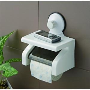 Salle de bains Accessoires Produits En Plastique Solide Porte Papier  Toilette Imperméable Support de Rouleau de Tissu Avec Couvercle 40716011fe6