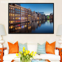 Decoration Amsterdam Landscape Photos Art Print Canvas Painting Poster Wall Pictures For Living Room Wall Decor Home No Frame(China)