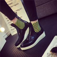 Esdy Spring Autumn Women Rain Boots Waterproof High Women Martin Boots Warm Female Snow Boots Size 35-40 Casual Women Shoes