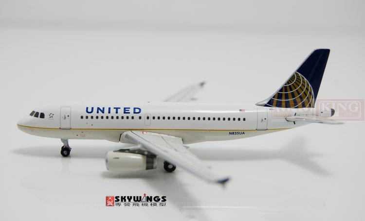GJUAL1157 GeminiJets United Airlines N835UA 1:400 A319 commercial jetliners plane model hobby