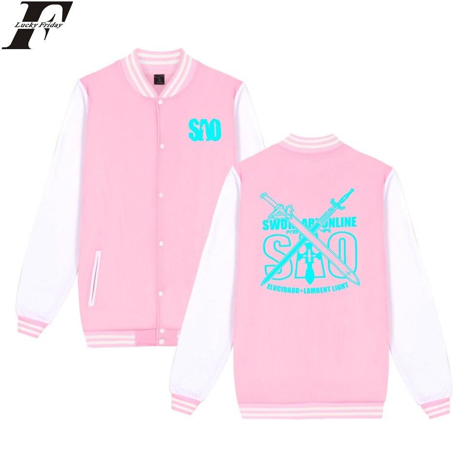 LUCKYFRIDAYF Sword Art Online font b Jacket b font Fashion Print Sweatshirt Oversize Coat Plus Size