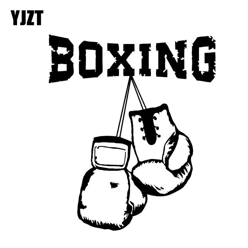 YJZT 11.1*13.1CM Coolest Fitness Fight Boxing Graphic Car Stickers Bumper Window Accessories Vinyl C12-0804