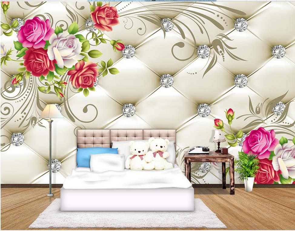 3D flower background wall painting mural 3d wallpaper Home Decoration custom 3d photo wallpaper custom modern 3d decoration wallpaper fashion stereoscopic background wall mural vintage cafe bar hotel background wallpaper