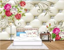 3D flower background wall painting mural 3d wallpaper Home Decoration custom 3d photo wallpaper(China)