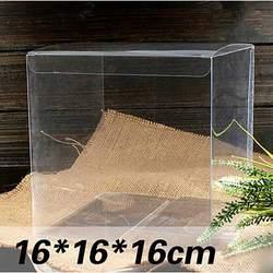 1 лот = 10pcs16*16*16 см Большие ПВХ окна разных размеров квадратной формы упаковочная коробка из ПВХ Пластик упаковку для сувенир/Candy/свадебные