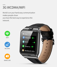 Hot Social GPS Watch Smartphone Android Ios APP Leather Smart Watch Support 3G Internet Wifi Bluetooth Video Chat Voice Search lemfo lem3 android 5 1 os smart watch support 3g wifi nano sim card google voice gps map weather search bluetooth smartwatch