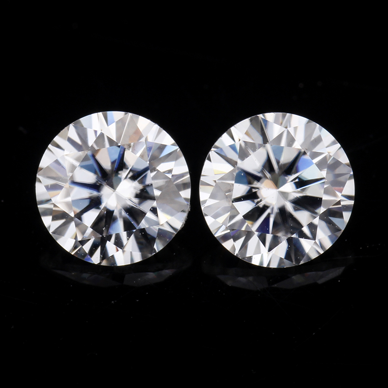 EF color 7 0mm round shape brilliant cut vvs clarity moissanites loose stone for jewelry making