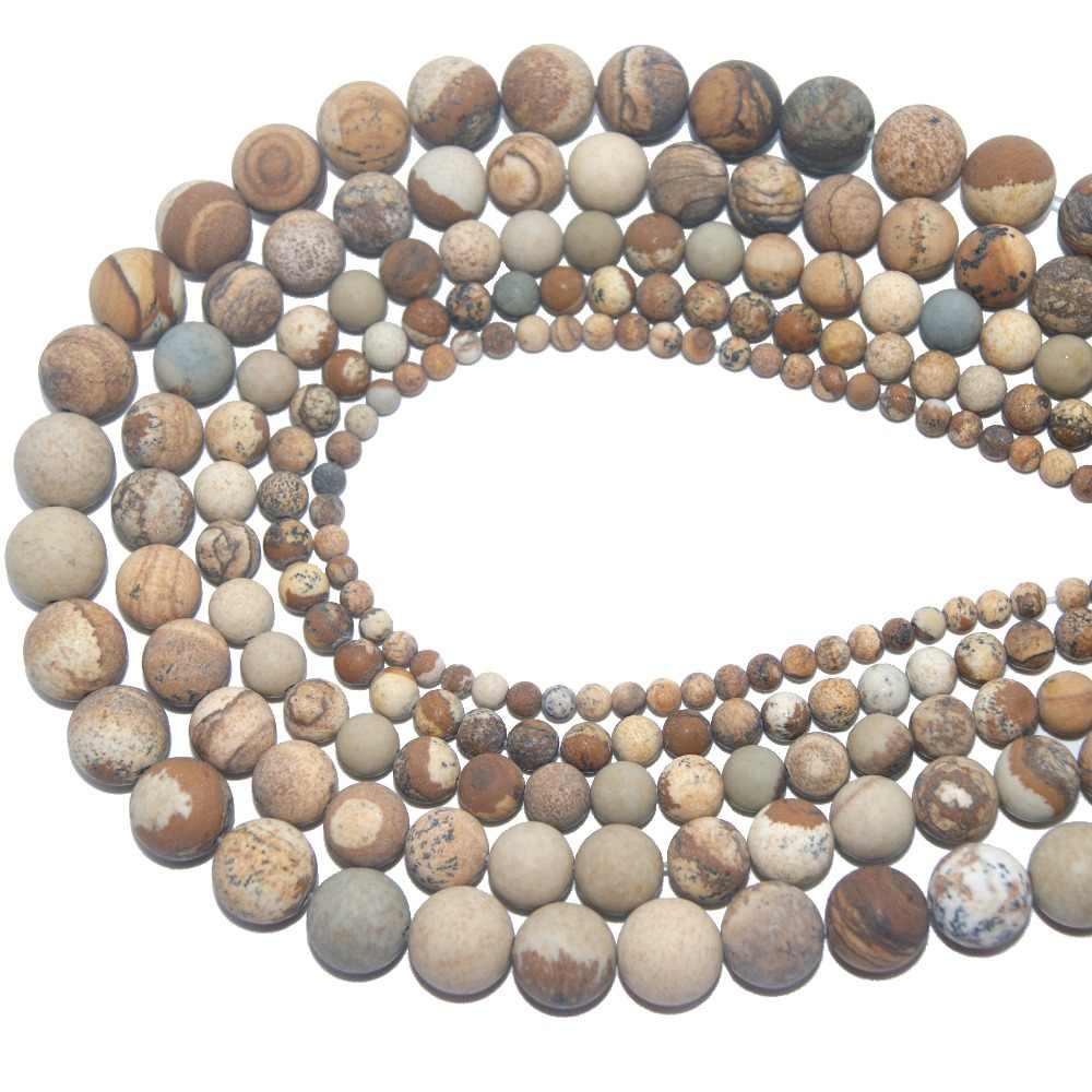 Großhandel Dull Polnischen Matte Natürliche Stein Perle Amethysten Achate Für Schmuck Machen Charme DIY Armband Halskette 4 6 8 10 MM