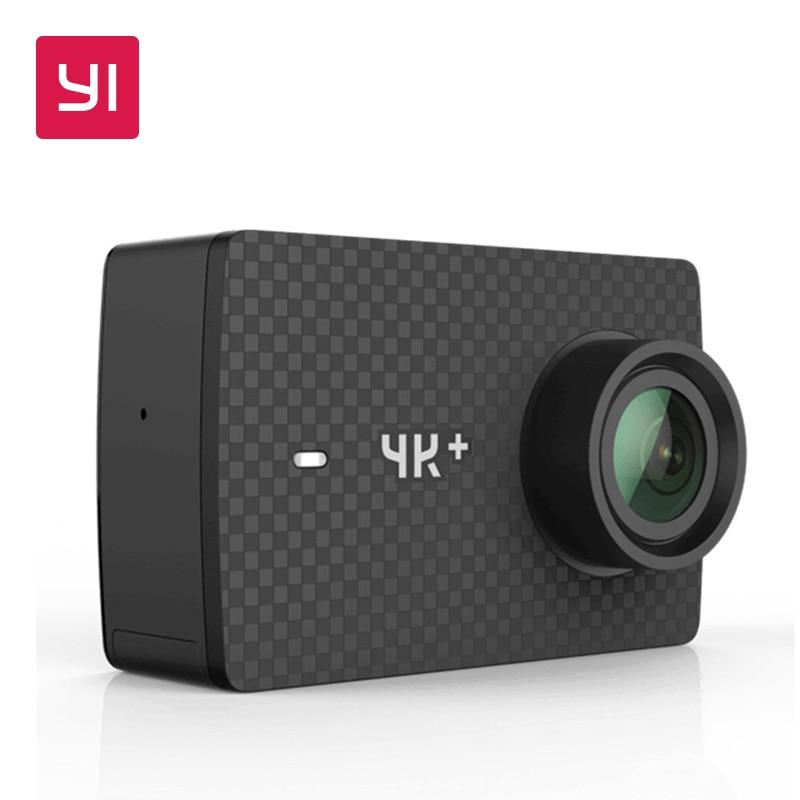 YI 4 k + (Plus) camera Action PREMIÈRE 4 k/60fps Amba Sport Caméra H2 SOC Cortex-A53 2.2 PMA RAM EIS WIFI International édition
