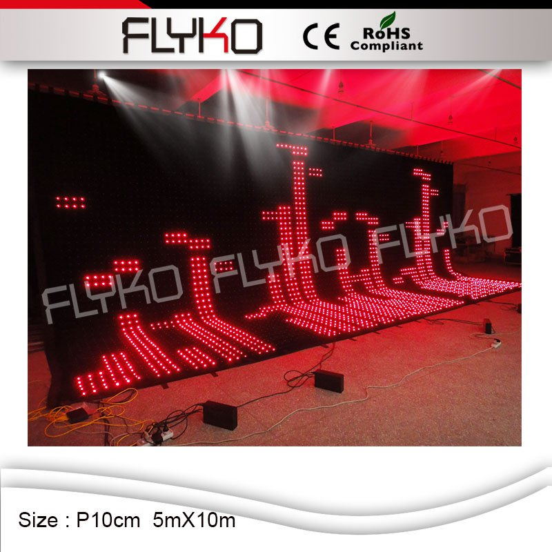new product 2016 stage backgroundbest seller xxx music video led curtain with factory price