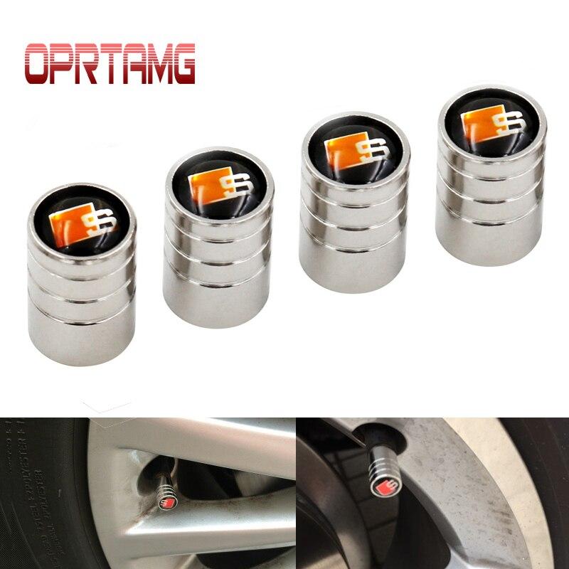 4pcs/lot Car Styling Auto Valves Caps Case For Audi Sline A6 C5 A4 B6 A4 B8 A4 B7 A4 B5 A6 C6 S Line A3 A5 Q5 Car accessories