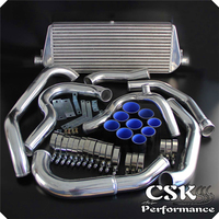 Upgrade High Performance Intercooler Kit Fits For Subaru WRX Impreza GDA GDB 00 05 Blue / Red / Black
