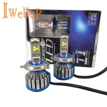 Faros LED súper brillantes sin errores para coche H7 H4 LED H1 H11 9005 9006, faros delanteros para automóviles, iluminación para automóviles 6000K