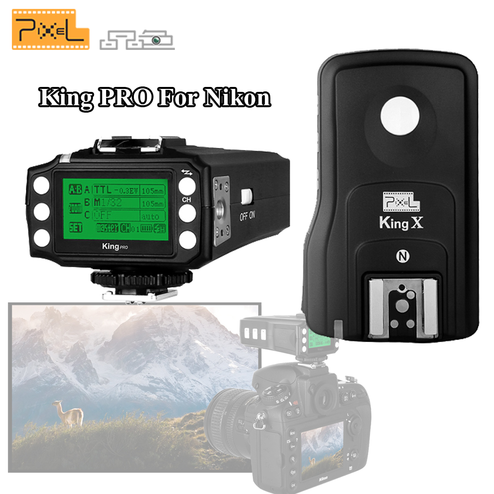 Pixel King Pro Wireless 2.4GHz TTL 1/8000s HSS Flash Trigger Kit Transmittter Transceiver For Nikon D7100 D7200 D810 D5 Camera nikon d7200 kit черный