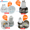 3w 5w led spotlight 9w 12w 15w led cob spotlight bulb GU10 MR16 LED lamp ac 110v 220v 240v super bright led light