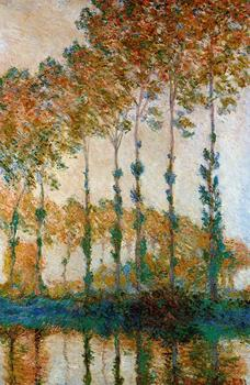 100% handmade landscape oil painting reproduction on linen canvas,poplars-on-the-banks-of-the-epte-autumn-1891 by claude monet