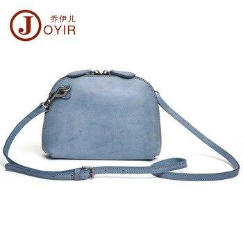 JOYIR 100% genuine leather bags for women Fashion shoulder bag Pure color Casual Messenger Bag sac a main femme de marque 2018