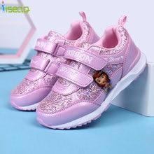 Enfants filles Baskets, 4-12 Ans filles chaussures de course, chaussures enfants Princesse chaussures de sport