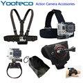 Kit de Acessórios de Cinto Cabeça SJ4000 Peito Cinto de Pulso Alça da Bolsa 360 graus de rotação alça de mão para gopro sjcam eken h9 xiaomi yi Cam