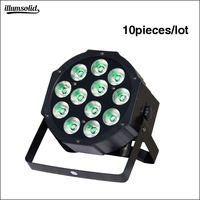10pcs/lot No Noise 12x12w led mini par light RGBW 4in1 DMX Stage Lights Light with Professional DJ
