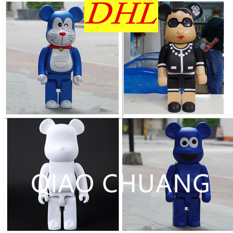 70CM BE@RBRICK 1000% Gloomy Bear Miss Ladies Sesame Street Doraemon Street Art PVC Action Figure Toy G1043 28 70cm 1000% bearbrick be rbrick attack on titans action toy figure medicom toy art work great gift for friends